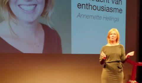 Annemette Hellinga op de rode stip